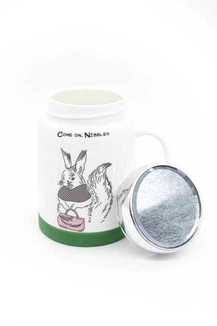 MIZALLE HOME - كوب من البورسلان مع مرآة (أرنب) (1)