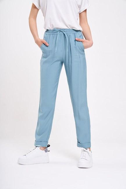 Bağcıklı Duble Paça Pantolon(Mint) - Thumbnail