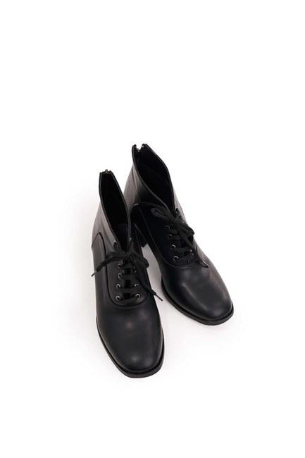 أحذية الدانتيل متابعة (أسود) - Thumbnail