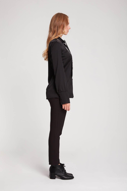 Bağlama Biyeli Bluz (Siyah)