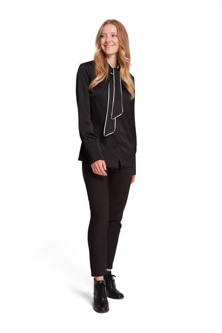 MIZALLE - Bağlama Biyeli Bluz (Siyah) (1)