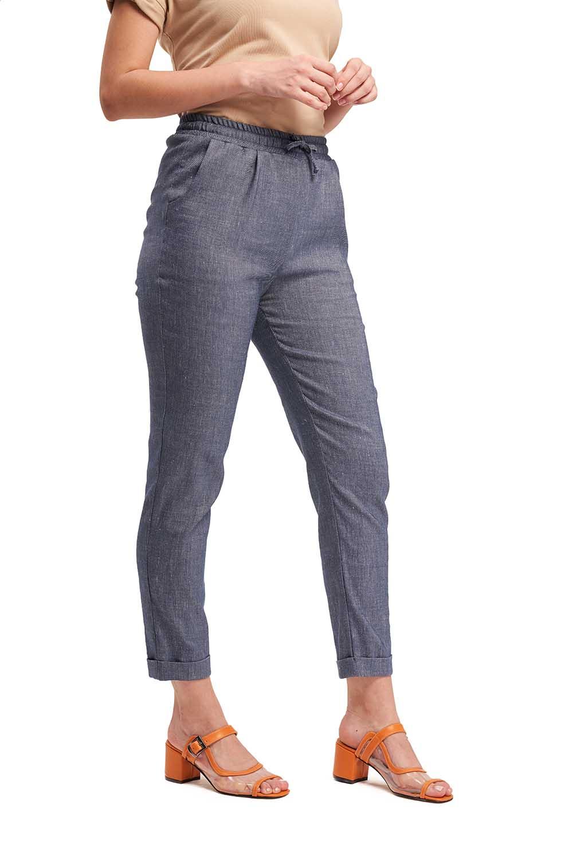Bağlamalı Pantolon (İndigo)