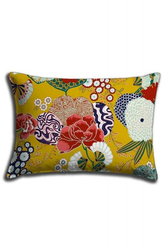 Digital Printed Spring Patterns Lace Pillow Cover (30X50)