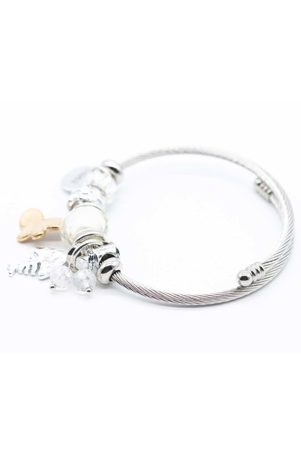MIZALLE - Fish Detailed Bracelet (White) (1)