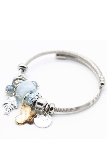 MIZALLE - Fish Detailed Bracelet (Blue) (1)