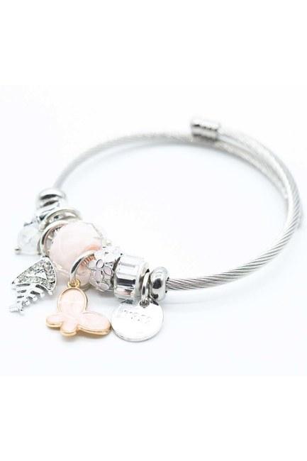 MIZALLE - Fish Detailed Bracelet (Pink) (1)