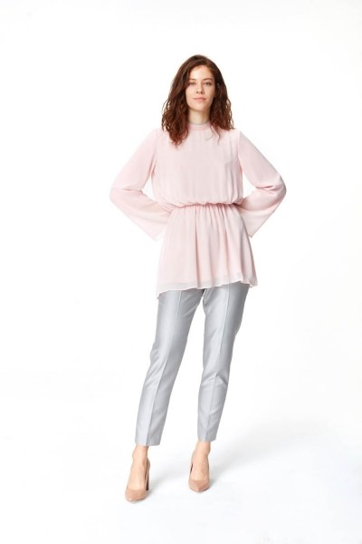 MIZALLE Turtleneck Blouse (Light Pink)