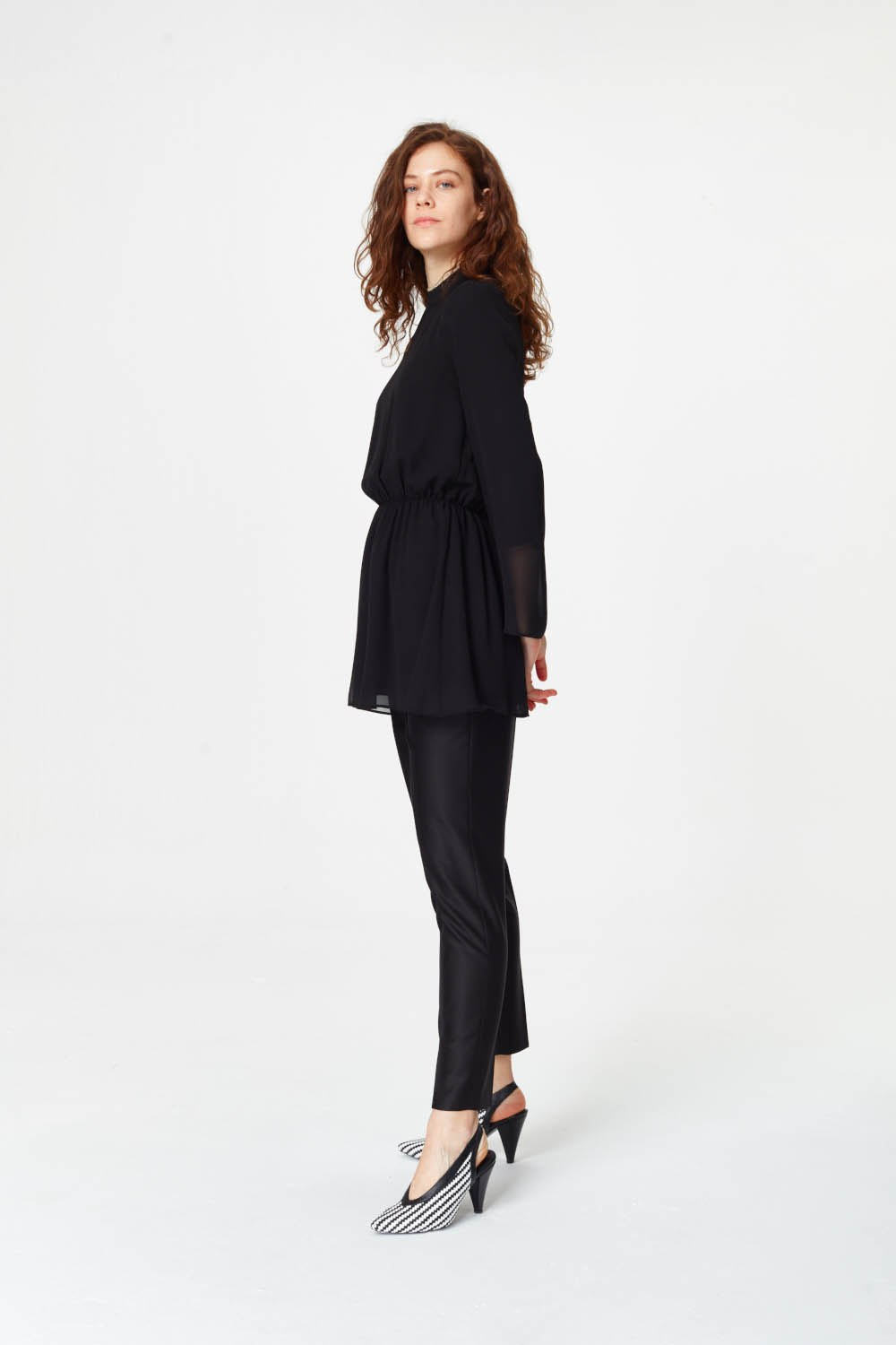 MIZALLE Turtleneck Blouse (Black) (1)