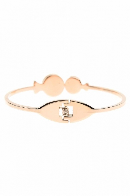 MIZALLE - Fish Detailed Steel Bracelet (St) (1)