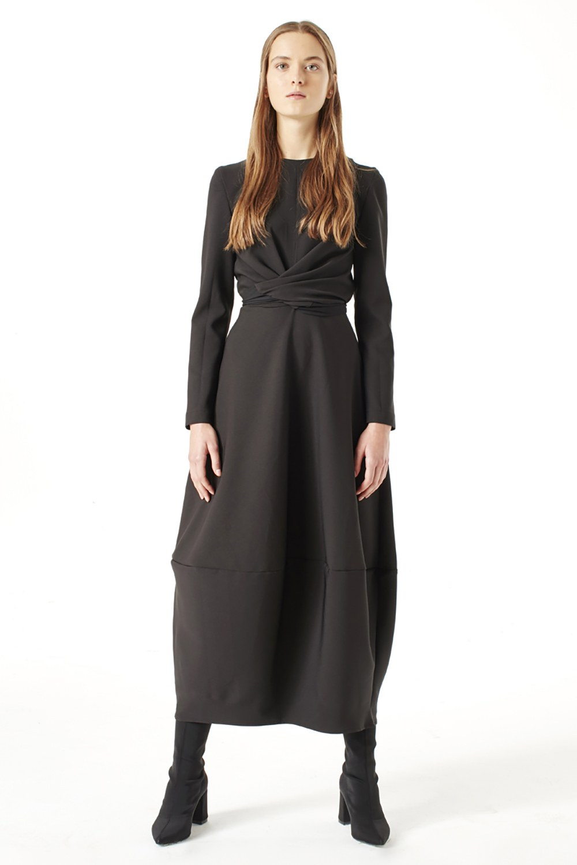 e00380026 Balon Etekli Elbise (Siyah) I Mizalle
