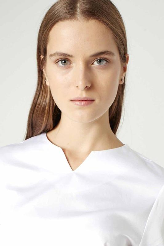 Balon Kollu Gömlek (Beyaz)