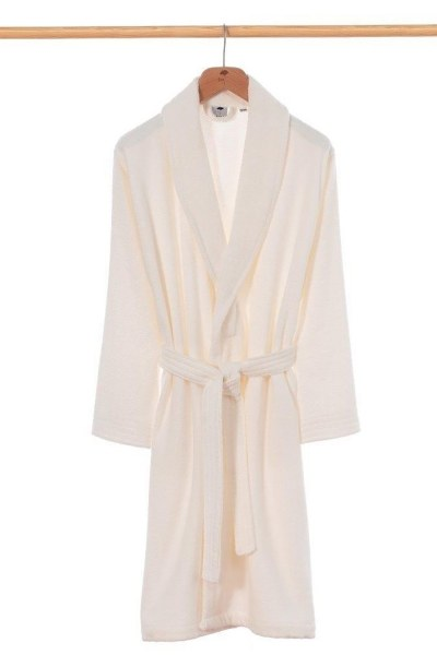 MIZALLE HOME Ecru Bamboo Bathrobe