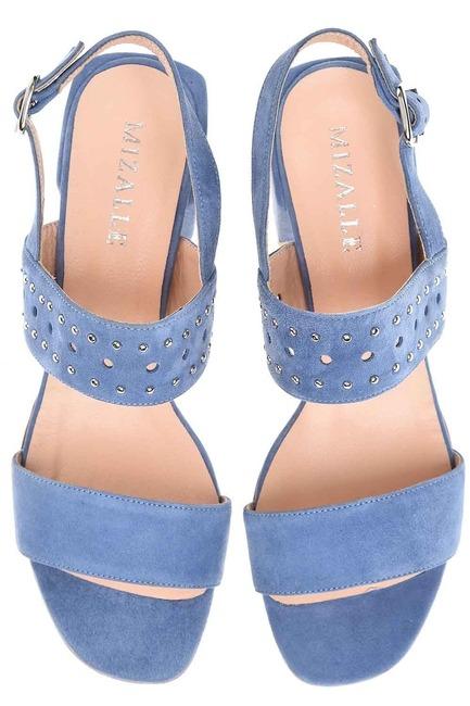 Bantlı Süet Ayakkabı (Mavi) - Thumbnail