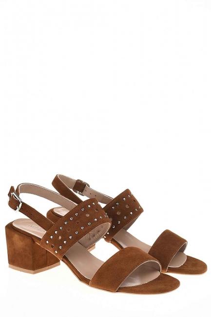 Mizalle - Bantlı Süet Ayakkabı (Taba)