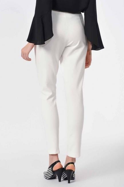 Basic Narrow Trousers (Ecru) - Thumbnail