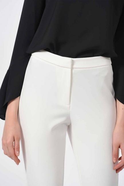 MIZALLE - Basic Narrow Trousers (Ecru) (1)