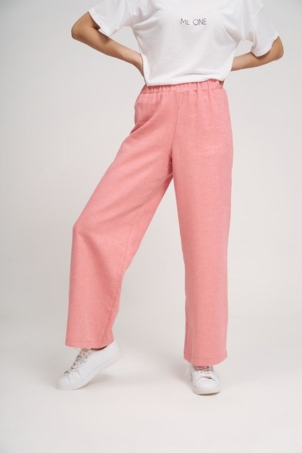 MIZALLE YOUTH - Basic Elastic Trousers (Rose) (1)