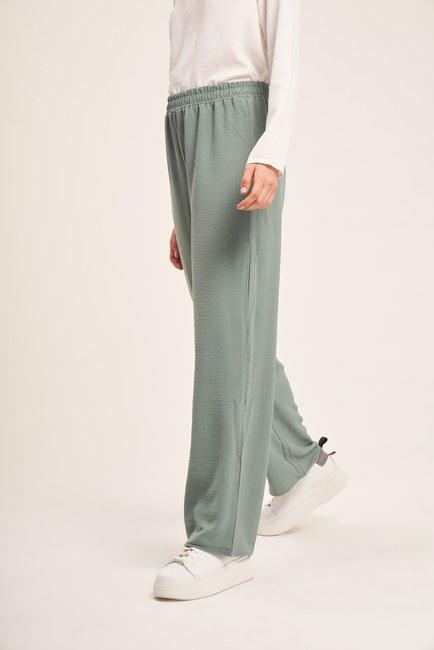 MIZALLE - Basic Elastic Waist Trousers (Mint) (1)