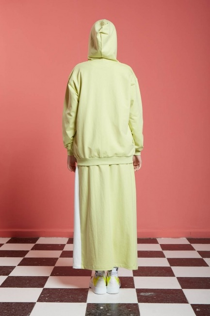 Basic Fermuarlı Sweatshirt (Açık Yeşil) - Thumbnail