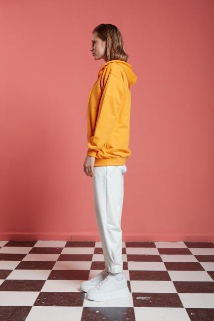 Basic Fermuarlı Mango Sweatshirt - Thumbnail