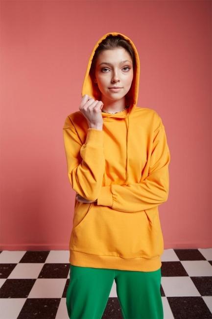 Basic Kapüşonlu Mango Sweatshirt - Thumbnail