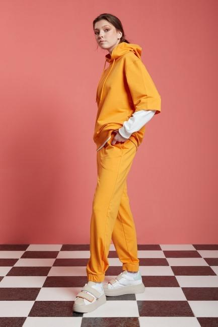 Basic Kısa Kollu Sweatshirt (Mango) - Thumbnail