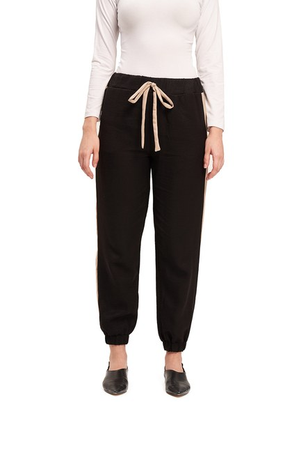 MIZALLE - Basic Lace-Up Trousers (Beige) (1)