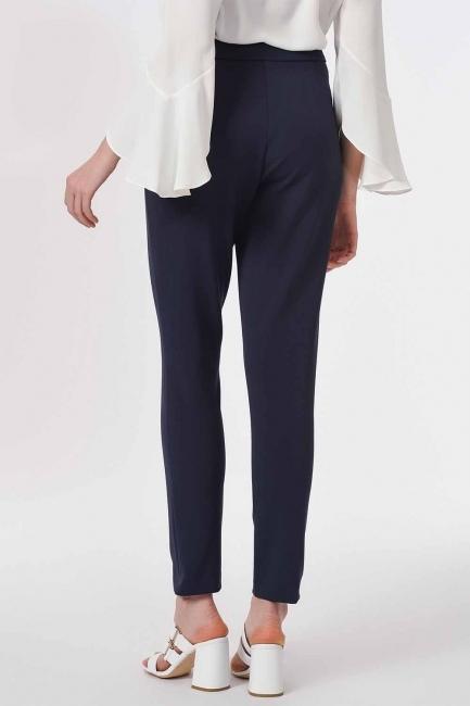 Basic Narrow Trousers (Navy Blue) - Thumbnail