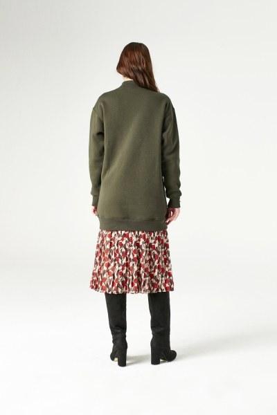 Payet Detaylı Sweatshirt (Haki) - Thumbnail