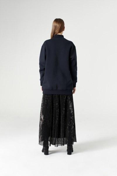 Payet Detaylı Sweatshirt (Lacivert) - Thumbnail