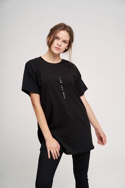 MIZALLE YOUTH - تي شيرت أساسي (أسود) (1)