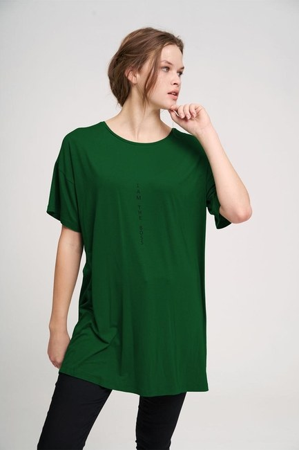MIZALLE YOUTH - Basic T-Shirt (Green) (1)