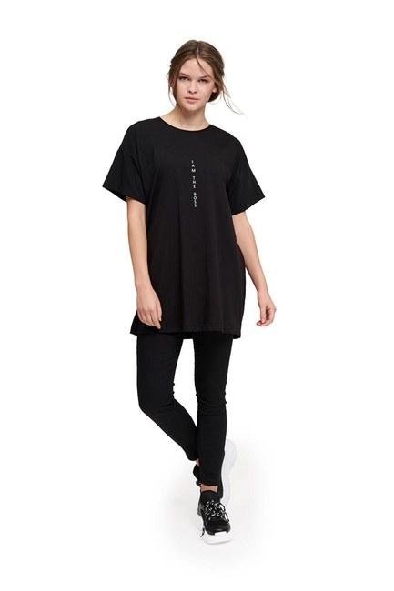 MIZALLE YOUTH Basic T-Shirt (Black)
