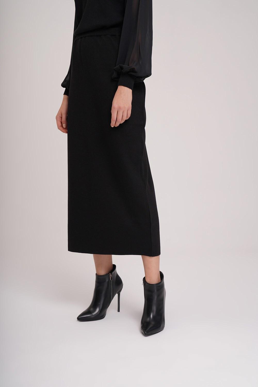 Basic Triko Etek (Siyah)
