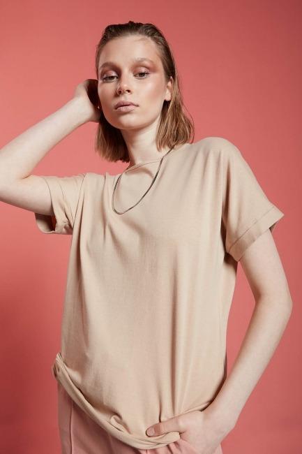 Basic T-Shirt (Bej) - Thumbnail