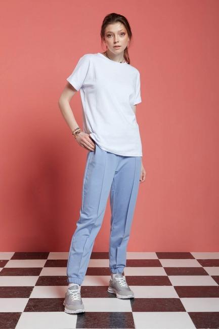 Mizalle - Basic T-Shirt (Beyaz)