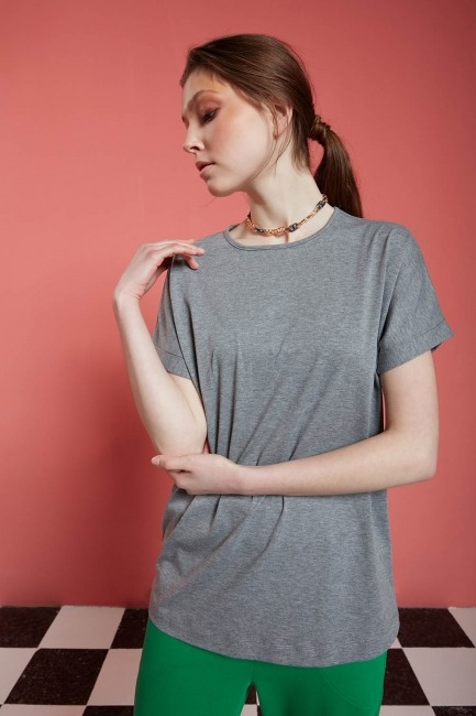 Basic T-Shirt (Gri) - Thumbnail