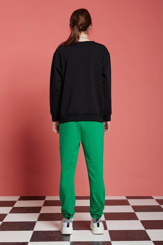 Basic Uzun Kollu Siyah Sweatshirt