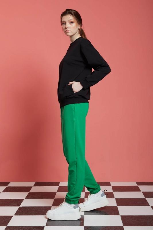 Basic Uzun Kollu Sweatshirt (Siyah)