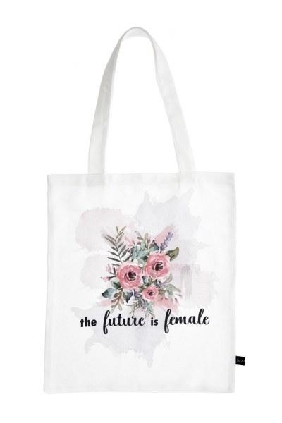 MIZALLE Baskılı Bez Çanta (Çiçek)