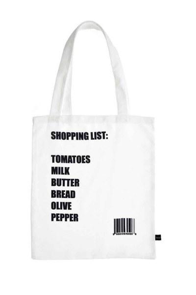 MIZALLE Baskılı Bez Çanta (Liste)