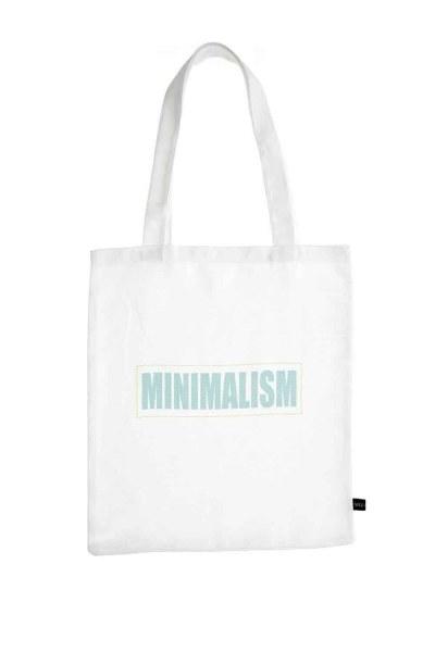 MIZALLE Baskılı Bez Çanta (Minimal)
