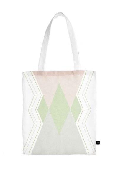 MIZALLE Baskılı Bez Çanta (Üç Renkli)