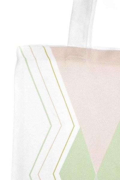 MIZALLE - Baskılı Bez Çanta (Üç Renkli) (1)