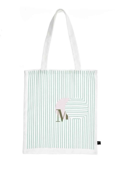 MIZALLE Cloth Bag (Green Stripe)