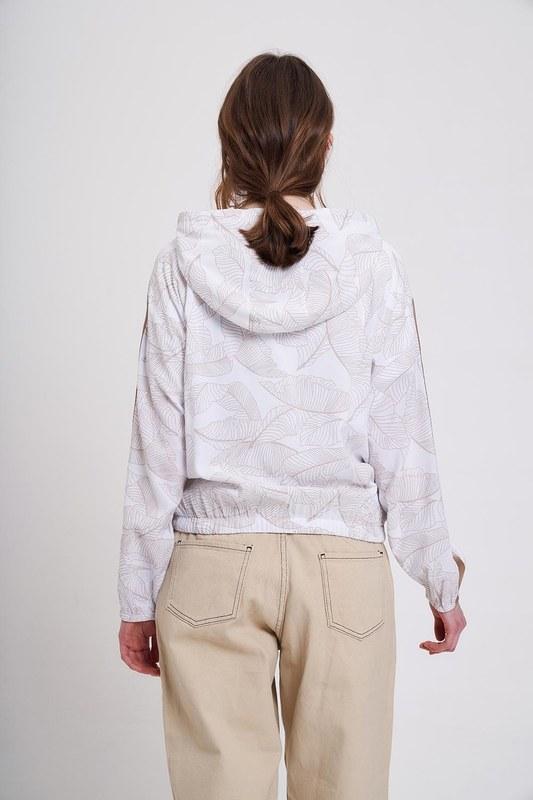 Baskılı Desenli Sweatshirt (Ekru/Bej)