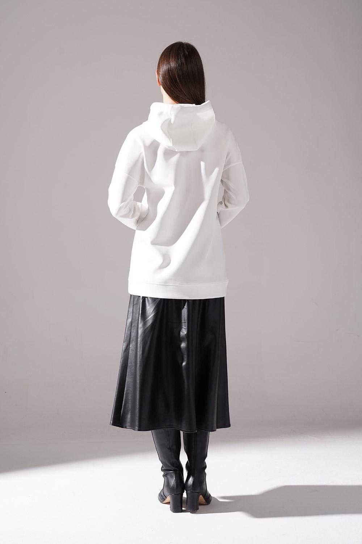 Baskılı Siyah Scuba Sweatshirt