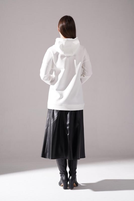 Baskılı Scuba Sweatshirt (Siyah)