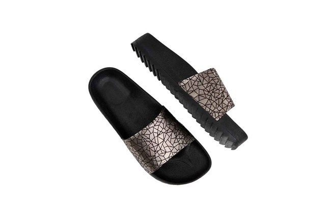 Soft Sole Slippers (Silver) - Thumbnail