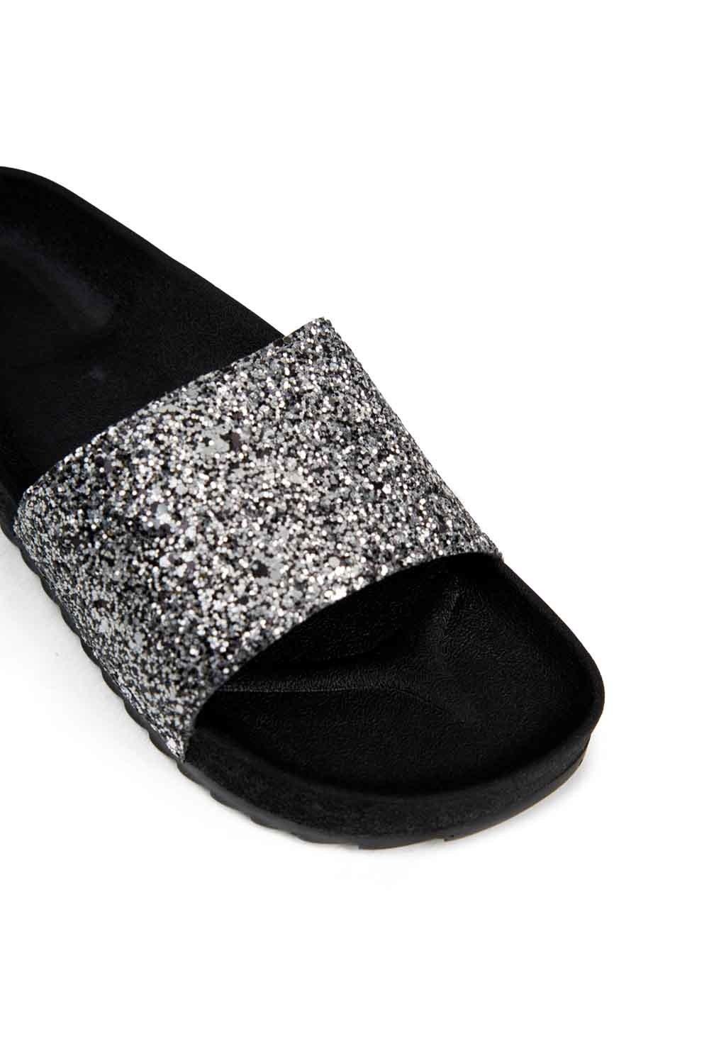 Soft Sole Slippers (Platinum Sequin) (1)